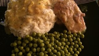 Crockpot Ranch House Pork Chops with Parmesan Mashed Potatoes (VEDA -  Day3)