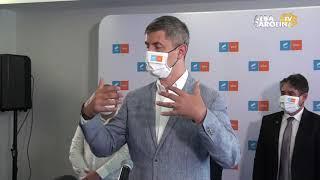 Dan Barna prezent la conferința de presă a Alianței  USR   PLUS Alba
