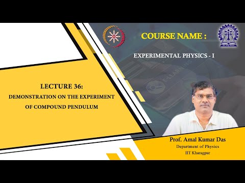 Lecture 36: Demonstration On The Experiment Of Compound Pendulum