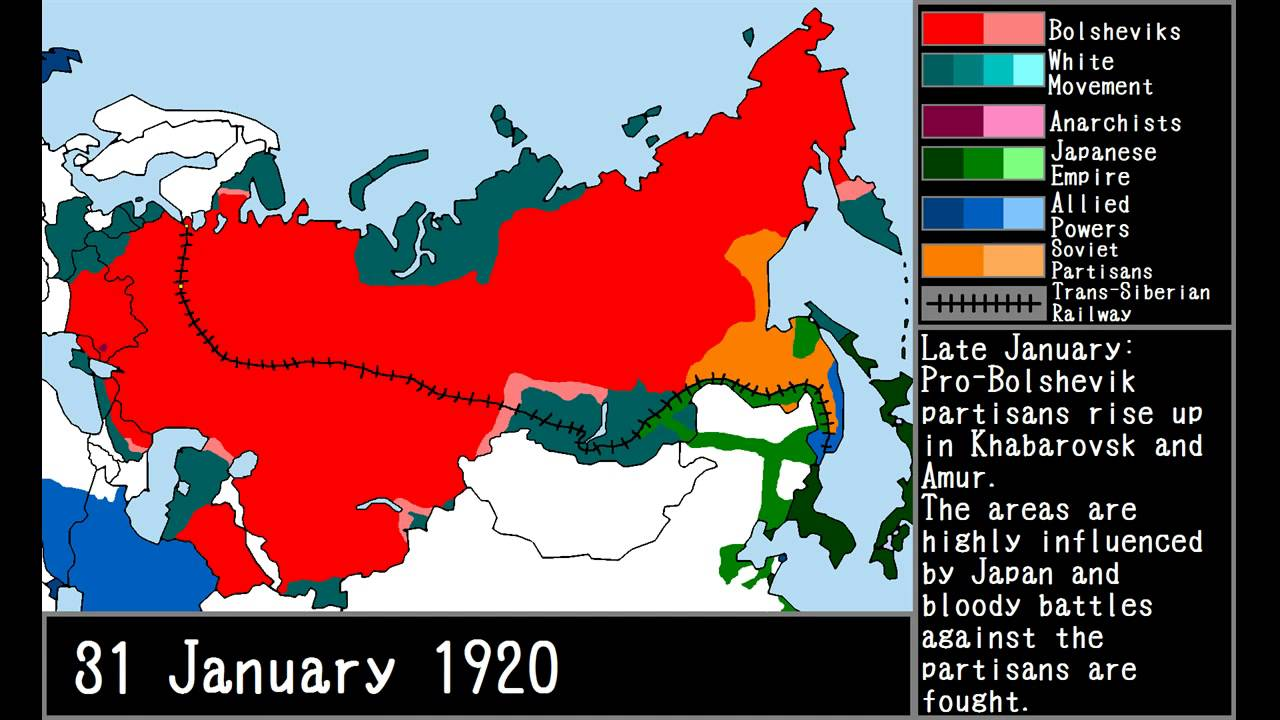 The Russian Civil War YouTube - Map of us at start of civil war