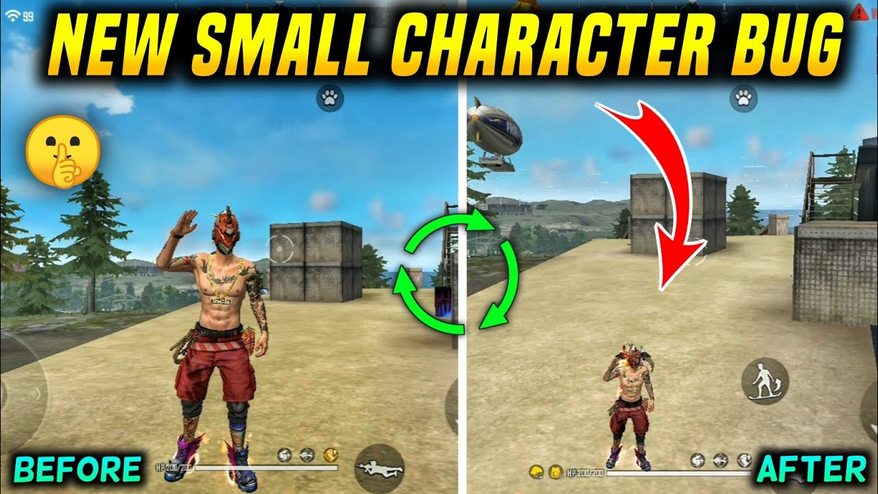 FREE FIRE NEW SMALL CHARACTER BUG    NEW SMALL CHARACTER BUG - GARENA FREE FIRE