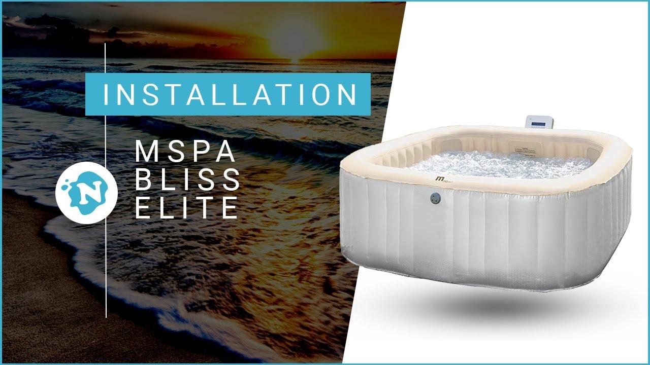 Nettoyer Filtre Spa Vinaigre Blanc comment installer son spa mspa bliss elite   nautigames