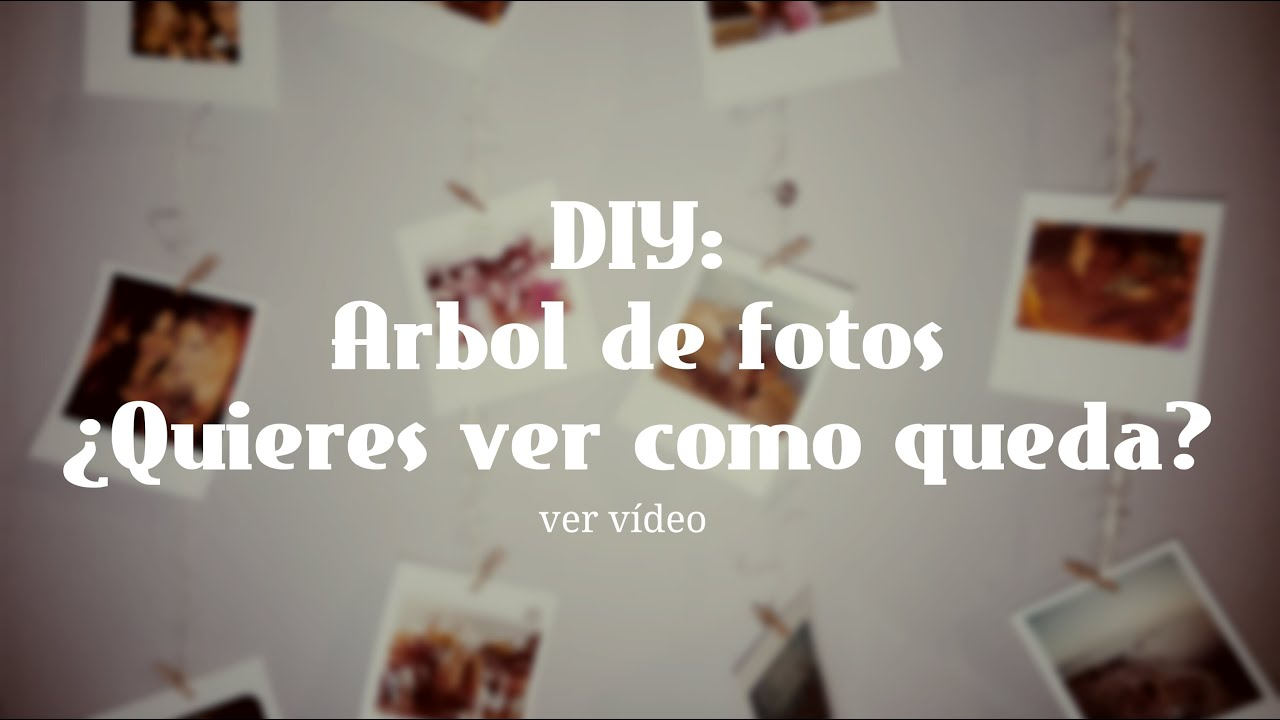 Diy idea original para colgar fotos rbol de fotos youtube - Ideas fotos pared ...