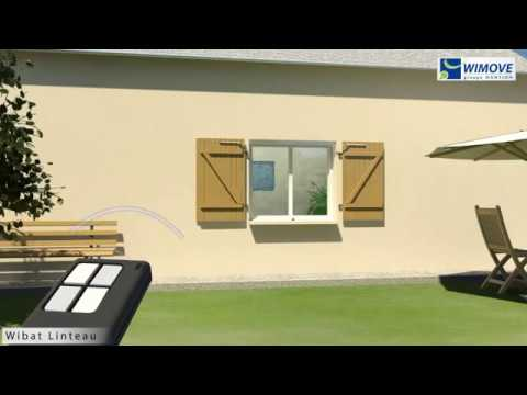wibat linteau motorisation en linteau de volets battants youtube. Black Bedroom Furniture Sets. Home Design Ideas