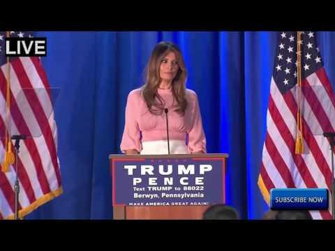 Melania Trump AMAZING SPEECH Rally in Berwyn, Pennsylvania 11/3/2016 HD