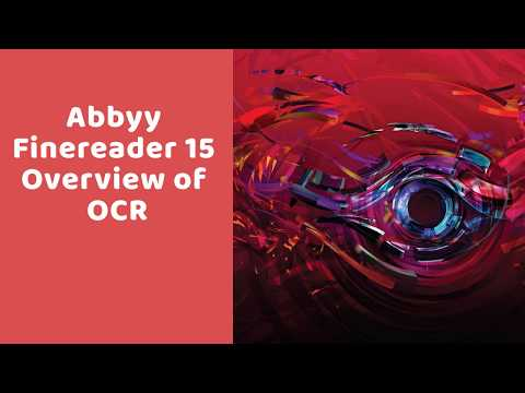 Abbyy Finereader 15 Overview Of OCR