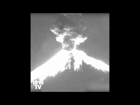 L'impressionnante explosion du volcan mexicain Popocatépetl