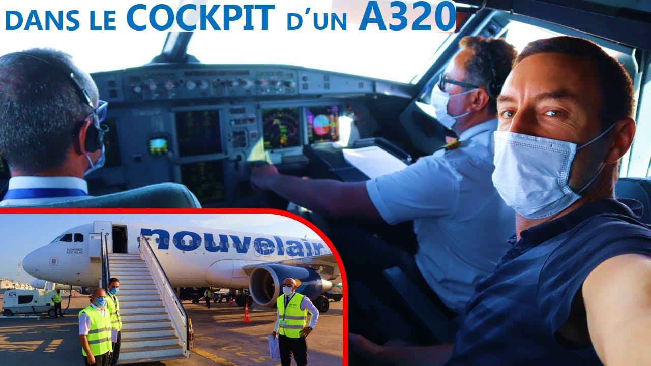 [TripReport] 🛫 VOL DANS LE COCKPIT sur Airbus A320 avec Nouvelair entre Tunis et Paris