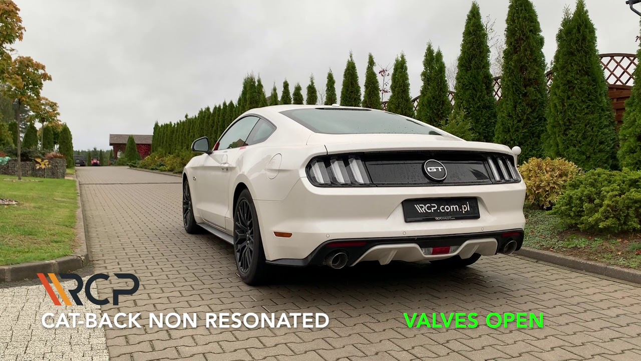 ford mustang gt rcp exhausts cat back exhaust valves