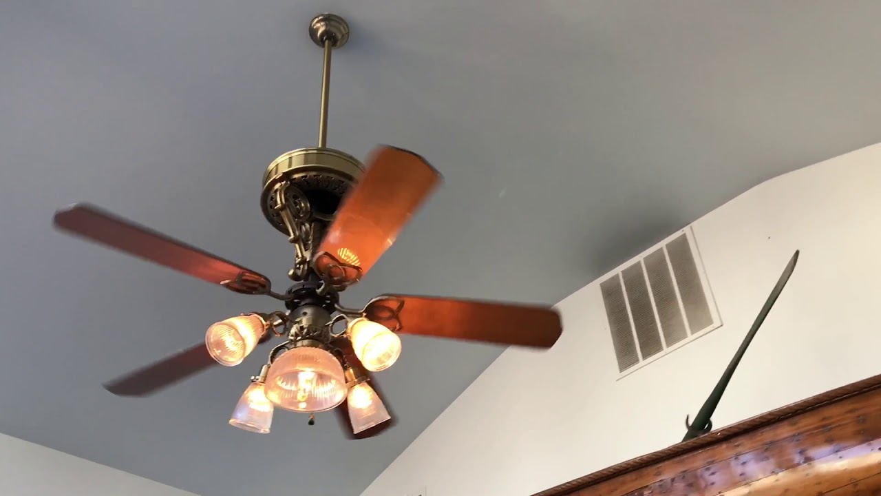 Casablanca New Orleans Tat Hugger And 2 Hampton Bay Ceiling Fans At A Restaurant