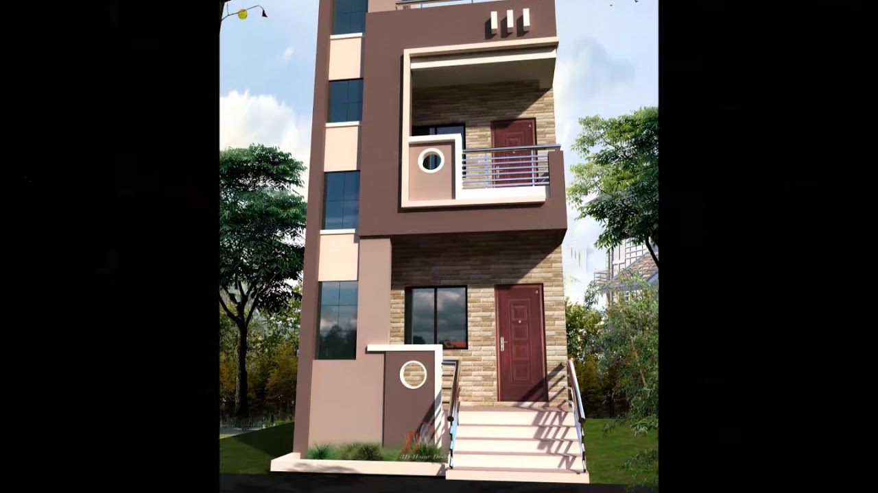 Front Elevation Design For 20 Feet : Feet front house design full hd new designed