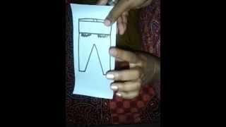 Chudidar pant cutting method