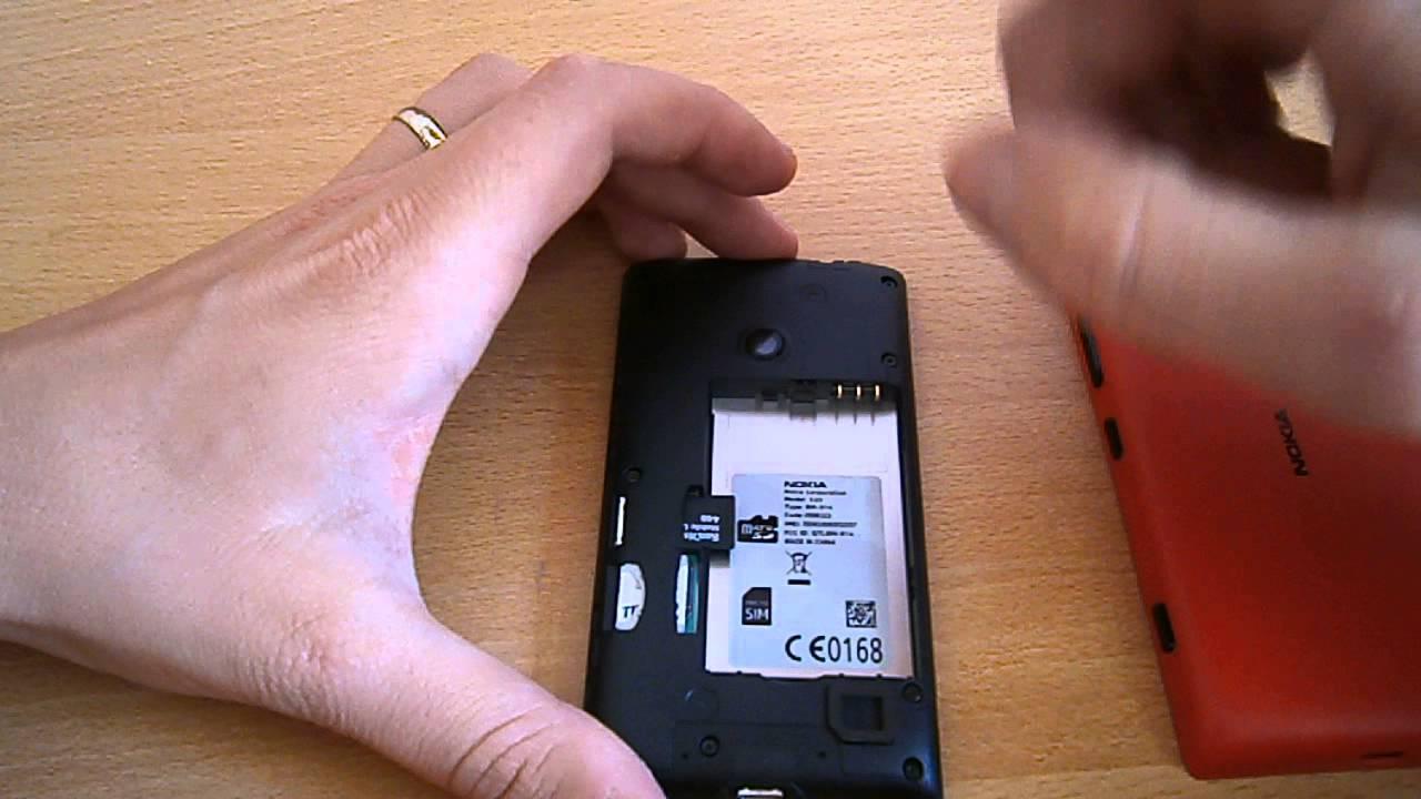 nokia 0168. nokia lumia 520 - skidanje maske i postavljanje sim memorijske kartice 0168