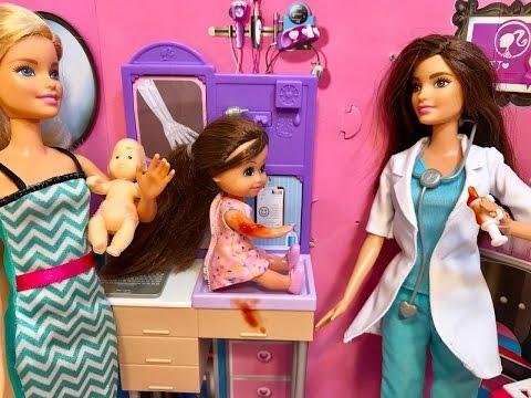 Barbie Doll Doctor! Flu SHOT!!