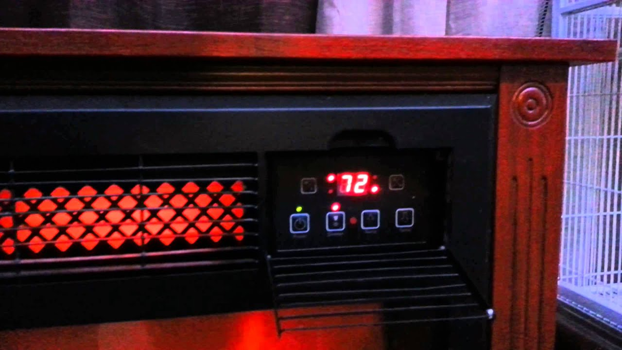 Lifesmart infrared electric fireplace in action
