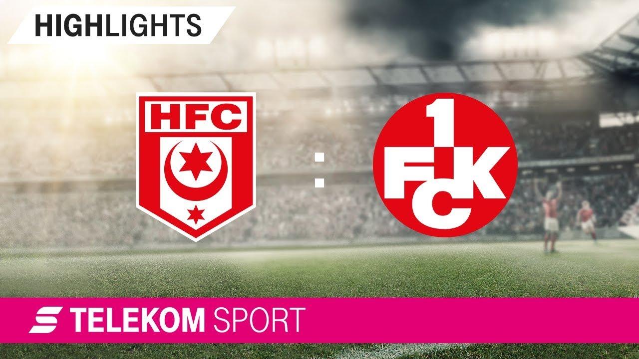 Hallescher FC 1. FC Kaiserslautern   Spieltag 4, 1819   Telekom Sport