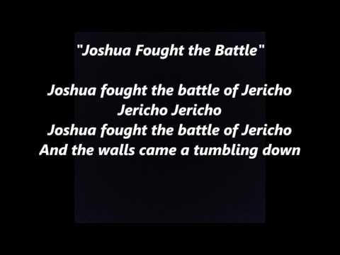 Joshua Fought the Battle of Jericho words lyrics top best favorite sing along spiritual songs