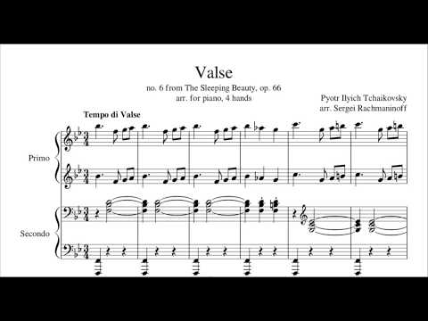 The Sleeping Beauty Waltz (Tchaikovsky) - Piano 4 Hands, Arr. Rachmaninoff