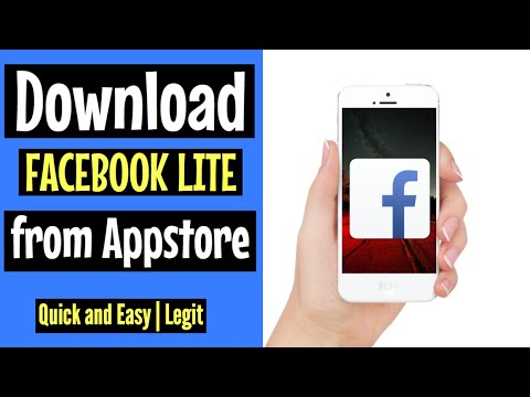 How to download FACEBOOK LITE on Appstore | FREE and EASY 2018 | for Iphone