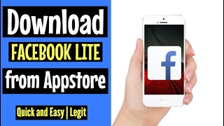 How to download FACEBOOK LITE on Appstore | FREE and EASY 2018 | for Iphone screenshot 3