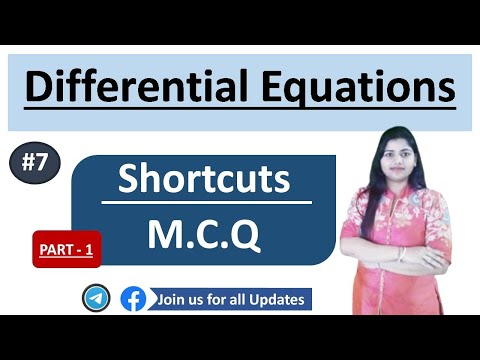 DIFFERENTIAL EQUATIONS  SHORTCUTS MCQ  FOR CSIR NET / M.SC ENTRANCE / UGC NET/ NDA/BSC