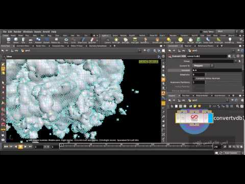 Houdini Volumes and New POP Network and Waterflow Project (not for beginners yet)