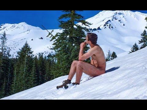 Naked Snow Hike