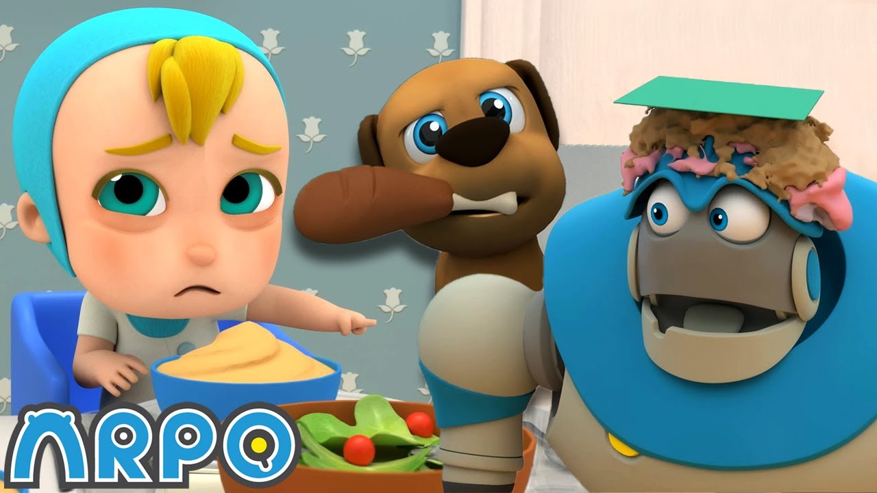 Arpo the Robot | Birthday DISASTER ! | NEW VIDEO | Funny Cartoons for Kids | Arpo and Daniel