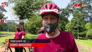 Usai Olahraga Jokowi Sampaikan Hasil Tes Swab, Alhamdulillah Negatif - JPNN.com