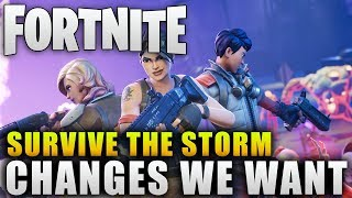 "Fortnite ""Survive the Storm Changes We Want To See"" Fortnite Update Changes"
