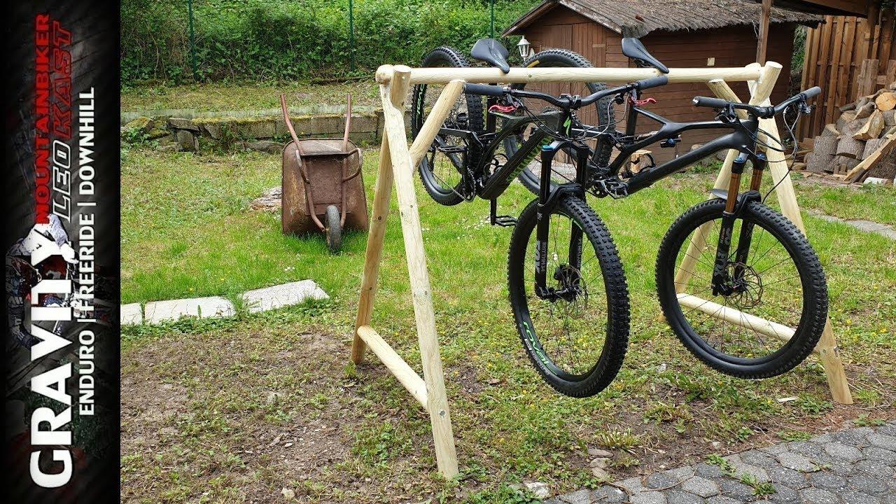 fahrradst nder wie im bikepark selbst bauen a frame bike rack eigenbau leo kast 191 youtube. Black Bedroom Furniture Sets. Home Design Ideas