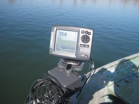 No Drill Holes in your boat - Magnetic Fish Finder Mount