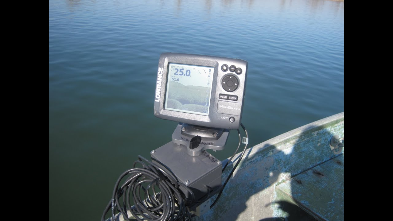 no drill holes in your boat - magnetic fish finder mount - youtube, Fish Finder
