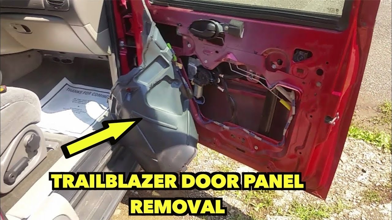 Chevy Trailblazer Door Panel Removal 02 09 Fast And Easy Youtube
