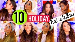 10 QUICK and EASY Hairstyles for the Holidays! Niki and Gabi