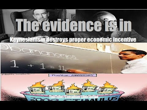 The evidence is in - Keynesianism destroys proper economic incentive