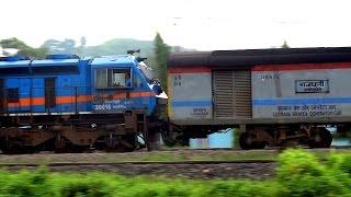 [IRFCA] Dibrugarh Rajdhani Express & Lumding Passenger together greets good morning at Guwahati