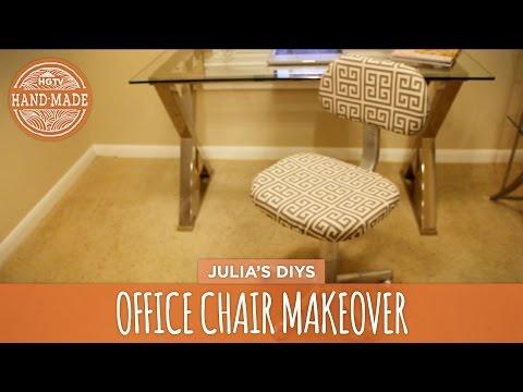 No-Sew Office Chair Makeover - HGTV Handmade