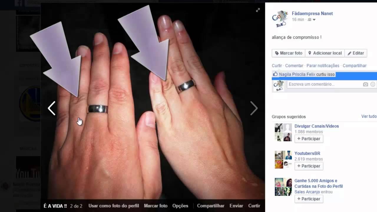 Qual dedo usar Aliança de Compromisso - Como usar o anel de noivado e as  alianças - YouTube afb78c3824