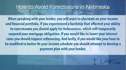 How to stop foreclosure in Nebraska