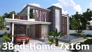 Video SketchUp Modern Home Plan 7x16m download MP3, 3GP, MP4, WEBM, AVI, FLV Desember 2017