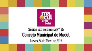 Concejo Municipal de Macul N° 65 / 24-05-2018