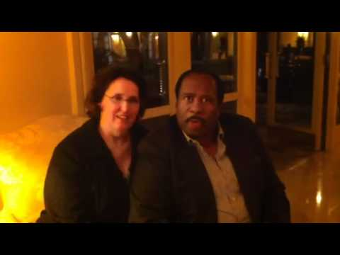 Phyllis Smith and Leslie David Baker of the office.
