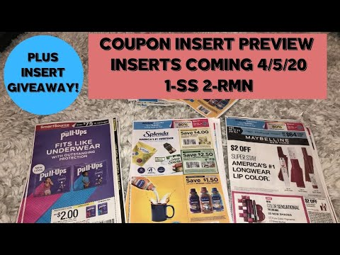 Coupon Insert Preview 4 5 20 Coupons 1 Ss 2 Rmn Plus Insert Giveaway Youtube