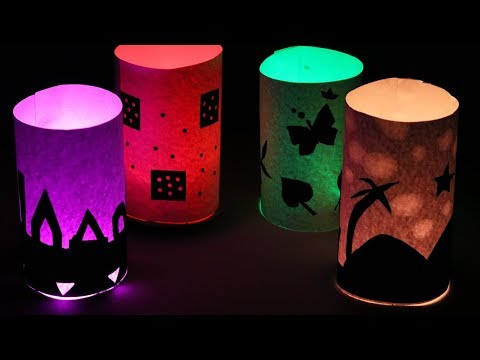 DIY ! Night Lamp | How to Make a Beautiful Silhouette Night Lamp at Home | Home Crafts