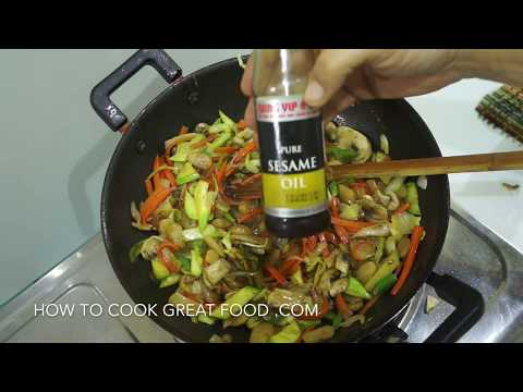 Chinese Stir Fry Vermicelli Vegetable Noodles Recipe – Vegan