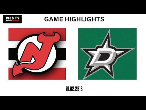 NHL Highlights  New Jersey Devils vs  Dallas Stars | Jan  2, 2019