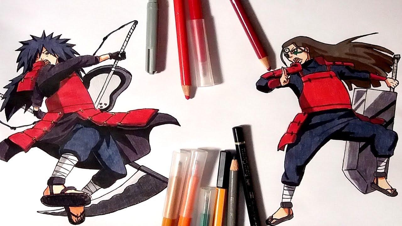 Speed Drawing Madara Uchiha vs Hashirama Senju - YouTube