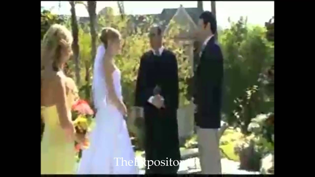 A must see video of the best wedding blunder ever seen before