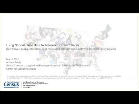 Using National Jobs Data To Measure Graduate Impact